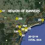 #RegionofRunners #parkrun Roll Call Sat 20th Dec, 2014 TOTAL: 1564 http://t.co/AyeWdqGrOs