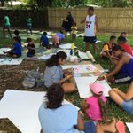Local kids are painting memorial cards for the children who were killed in #Cairns http://t.co/iD4IfXVeoc