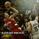 Damian Lillard scores 43 points to lead the Blazers in a 3OT thriller vs. the Spurs! http://t.co/eknP3dBG54