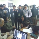 TFI CEO Shaheen talking to @ArvindKejriwal and @msisodia at St Stephens. #AKatStephens http://t.co/P6FtUjktwy