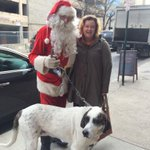 Merry Christmas, Asheville-style! New blog post soon about this #local Santa & his hound! #avl http://t.co/IIiX61FFIc