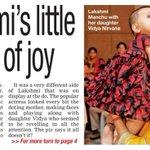 """""""@Allupdatez: @LakshmiManchu 's little bundle of joy -->"""