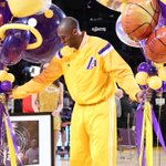 Awww! @Lakers honor Kobe Bryant before tonights game for passing Jordan on the all-time scoring list. (via @Lakers) http://t.co/gNSrMyLmTW