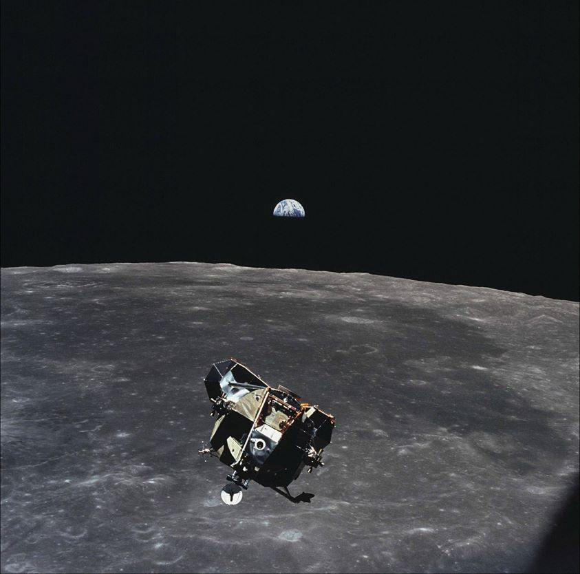 When Michael Collins took this picture he was the only human, living, dead or unborn, not contained in the frame. http://t.co/BeDaRv9UQJ