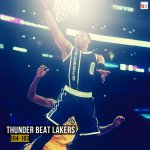 The OKC Thunder beat the Lakers 104-103! Russell Westbrook with 31 points, 10 assists. http://t.co/Pb64DHSSGv