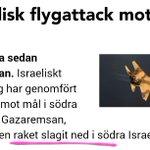 Snälla rara @sr_ekot HAMAS SKÖT RAKET MOT ISRAEL bla bla Israel besvarade beskjutningen  (Enda rimliga vinklingen) http://t.co/2pfQGCH9Zb
