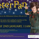 Come to a pantomime storytime with cast members of @TheatreRNorwich Peter Pan! Fri 2nd Jan, 11am, Childrens Library! http://t.co/irNX95wHsZ