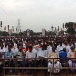 A Sea of Tamil Makkal gathered at Chennai Rally to hear Thalaivar @AmitShahOffices Clarion Call for TN 122+ in 2016 http://t.co/Yqdh6Xz149