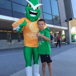 Were celebrating @harmonycricket at the @MCG at tonights game! @StarManMascot is ready to go! #GoStars http://t.co/8lkph2R85S