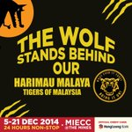 Harimau Malaya Mengaum Di Bukit Jalil!! Stand with our Tigers tonight, then come party with yr Wolf after the game >) http://t.co/LI8UaP3p2J
