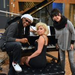 Lady Gaga in the studio with Nile Rodgers & Diane Warren. http://t.co/5PLzCYoORu