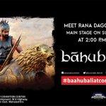 Meet @RanaDaggubati at Mumbai Comic Con on 21st at 2pm. #MFCC #BaahubaliatComicCon. #Baahubali #ComicConMumbai http://t.co/Z7LPXlhyPq