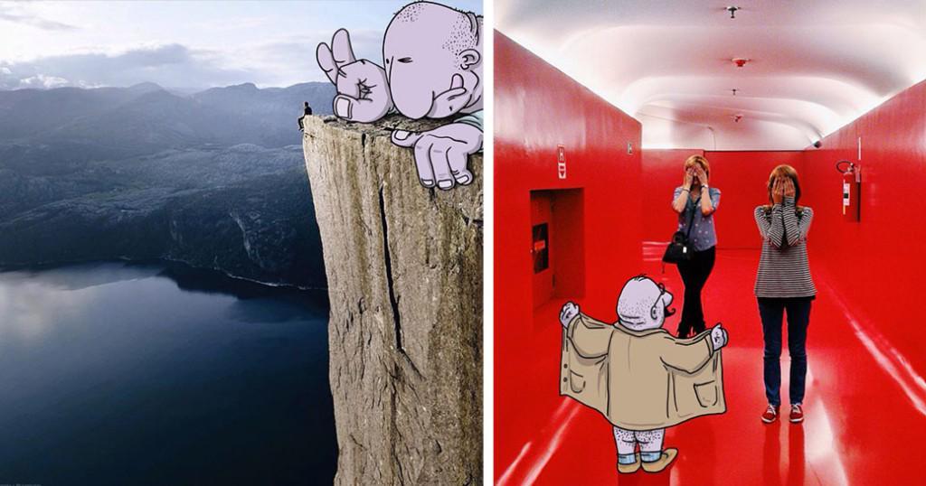 Cet illustrateur ajoute des dessins délirants sur les photos Instagram d'inconnus ! http://t.co/noaREbKfNH http://t.co/DDBjuQedKX