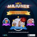 Ikuti kuis #NETMiliuner dngn sms ke 99911 (XL&Indosat) 93949 (Telkomsel) atau twitpic dngn clue yg ada di program NET http://t.co/IpAXShwqXS