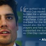 Alastair Cook says he's gutted to be left out of the squad & wishes the team all the best for the World Cup http://t.co/X69AlR7OyG