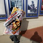 Some movie posters for 'The Interview' are selling for over $1,000 on eBay right now: http://t.co/89mq1c4kiA http://t.co/cB2Mm8Oew3