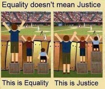 Equality doesn't mean justice. http://t.co/Phntz0Hgoa