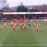 Santa pitch invasion.  They all then ran out of the ground. Yes its that entertaining! #Ctfc #pompey http://t.co/RYWPL6p3Uz