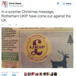 This message was printed by the Ukip Rotherham team in a local paper http://t.co/jSfYATRya8 http://t.co/PSwB966VXN
