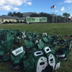 Everything is ready at @SASCOTS for @HerdFBs first practice in Boca Raton. #BocaBowl2014 http://t.co/CVPcEXT0QD