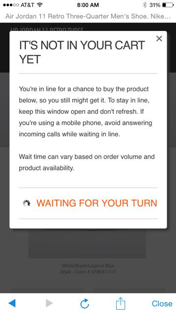 @nikestore your online buying process for premium footwear is bogus. http://t.co/4mdGS4EFHt