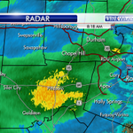 Snowing now in parts of Chatham, Orange & Durham Co. Most of it where the radar is shaded yellow. -EG #wral http://t.co/CDthzjCshv