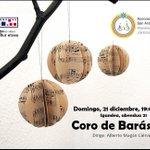 Domingo 21 de diciembre Concierto Especial del 20 Aniversario, a las 19h en la Casa de Cultura de @villavatarrabia http://t.co/AYo93tEA52