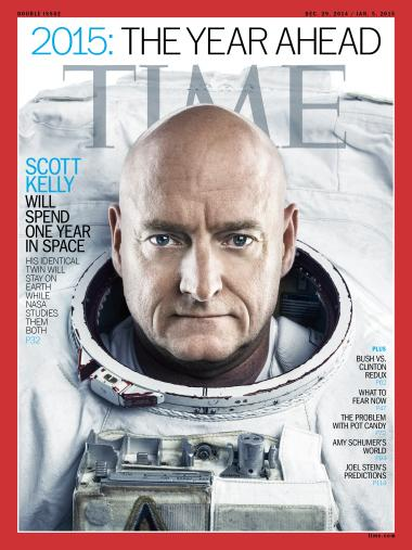 A year off the planet, weightless in orbit. Would you consider doing it? I would. (Scott's photo by Marco Grob @TIME) http://t.co/orG0AbH5tm