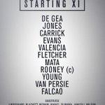 United XI v Villa: De Gea, Jones, Carrick, Evans, Valencia, Fletcher, Mata, Rooney, Young, RvP, Falcao #mufclive http://t.co/nyegkIP3mT