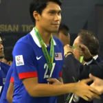 Malaysia pick up their Runners Up Medals. Congratulations on a brilliant performance in the 2014 #AFFSuzukiCup! http://t.co/wmMWGxLsC6