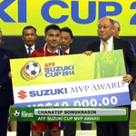 Congratulations to Chanathip Songkrasin, the player of the 2014 #AFFSuzukiCup! http://t.co/L4Zmjb2DOr