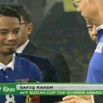 #AFFSuzukiCup2014 Top scorer! Congratulations @safiqrahim8! http://t.co/7bNeWAcvao