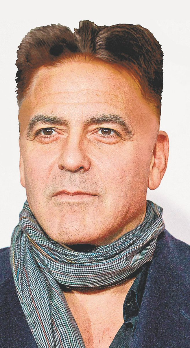 George Clooney With Kim Jong Uns Haircut Scoopnest