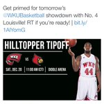 Only 30 people are ready for the game vs UL. That is pretty much saying you are not ready. #Burn #L1C4 #BeatWKU http://t.co/K4b0w3V0VF