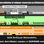 Anti-Hindu agenda executed by so-called Secular Media/Politicians is EXPOSED now #SecularConversions http://t.co/lWBj0GKCK2 @anilkohli54