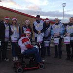 Front gate team for @Glosyoungcarers. Doesnt matter if red or blue, give generously #glawsfamily #charity http://t.co/TDBZUypaPn