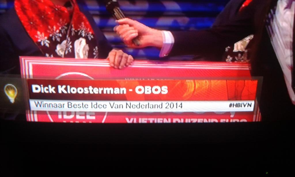 Beste Idee Van Nederland 2013 de Winnaar Van Het Beste Idee