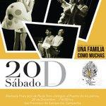 """Espectáculo de payaso """"Una familia como muchas"""" , Alameda """"Francisco de Paula Toro""""contiguo al Puente de los perros http://t.co/jVczwxjJQV"""