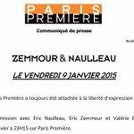 La liberté dexpression cest sur #ParisPremière : Paris Première laissera parler Eric #Zemmour à la rentrée http://t.co/mEwqQXrTNb