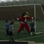 @kate_scheele & @Girl_SCOUT_  u have competition next fall. @Chipthebuffalo is a big time goalkeeper! #HolidayCamp14 http://t.co/CzrlqYF4Sc