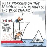 Keep working on the barnacles, Ill reshuffle the deckchairs Golding toon #auspol #libspill http://t.co/LfyazTsh8W http://t.co/vkBTE4w9vb