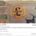 UKIP advert accidentally tell people to Say no to the UK http://t.co/fpTN8LJDTW http://t.co/h37Eikuqms