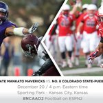 #Gameday! Minn. St. meets CSU-Pueblo for the 2014 #NCAAD2 Football Title @SportingPark #MavNation #unfinishedbusiness http://t.co/UZBZHtrhBe