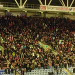 Rotherham United fans at Wigan today. #RUFC http://t.co/NXR9nbXqU8