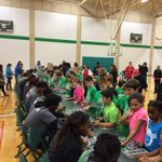 Successful youth clinic today with @MeanGreenWBB and @MeanGreenMBB! Come cheer them on @ the Pit! #GoMeanGreen http://t.co/9GsJS8fNzw