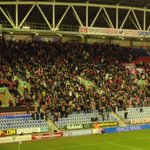 Rotherham fans at Wigan today. #rufc http://t.co/ltWN5G3PZ3