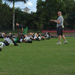 "Marshall strength & conditioning coach @coach_sinclair telling the team ""Lets be great today."" @HerdFB http://t.co/m6u3t0KZez"