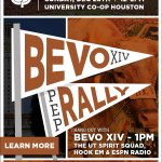 .@BEVO_XIV is coming to Houston Co-op on 12/28! Join our Texas Bowl Pep Rally here -> https://t.co/0zg4F07jZm #Hookem http://t.co/SkK02bmdn6