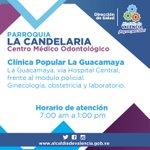 Dirección y horario del Centro Médico Odontológico #LaGuacamaya. #Salud #Valencia #LaCandelaria http://t.co/Mh9DKylzmo