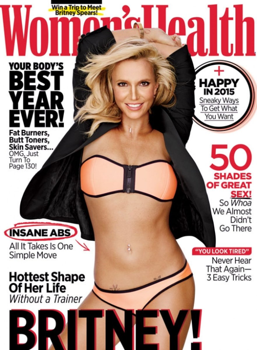You better work, @BritneySpears! The singer's abs star on the cover of the new Women's Health: